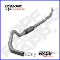 07.5-11 Diamond Eye Dodge 4 DPF Race Turbo Back QT Exhaust NB No Muffler SS
