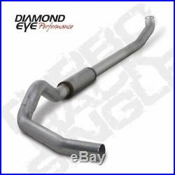 07.5-12 Diamond Eye Dodge 5DPF Race Turbo Back Exhaust NB No Muffler AL