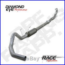 07.5-12 Diamond Eye/P1 OR FLOPRO Dodge 5DPF Race Turbo Back Exhaust No Muffler