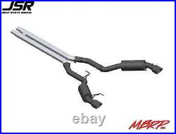 15-17 Mustang GT Coupe MBRP Cat-Back Race 3in Exhaust Kit Black & Aluminized