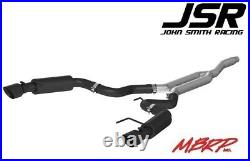 15-18 Mustang EcoBoost 2.3L MBRP Cat-Back Race Series 3in Exhaust (Black Tips)