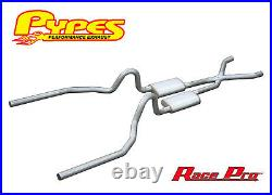 1965-1970 Mustang 289 302 351W Pypes 2.5 Exhaust System Kit with Mufflers X-Pipe