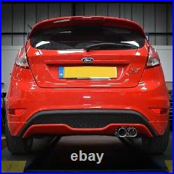 3 Stainless Cat Back Race Exhaust System For Ford Fiesta Mk7 St180 1.6 Ecoboost