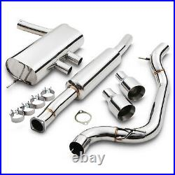 3 Track Race Cat Back Exhaust System For Ford Focus Mk3 St3 St250 2.0 2012