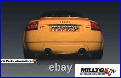 Audi TT 180 225 Quattro Milltek 3 Race Non Res Cat Back Exhaust Black GT100