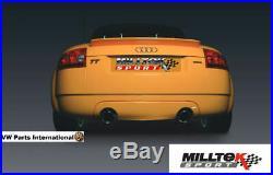 Audi TT 180 225 Quattro Milltek 3 Race Non Res Cat Back Exhaust Polished Tips