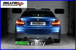 BMW 2 Series F22 M235i Coupe Milltek Cat Back Race Exhaust Twin Titanium GT90