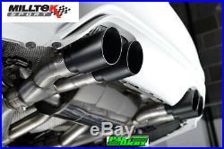 BMW M3 F80 Milltek Sport 2.76 Race Cat Back Exhaust System 4x Titanium GT90 Tip