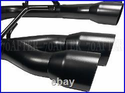 Blox Racing Axle-Back Muffler Delete Exhaust for 15-21 Subaru WRX & STi (Black)