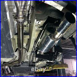 CB-209 FlowMAXX Stainless Steel Cat-Back Exhaust Kit 3 Pipe Race Version BoltOn
