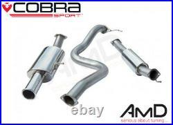 Cobra Fiesta ST180 3 Race Cat Back Exhaust Resonated Stainless Steel FD78