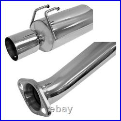 DC Sports SCS7035 Single Canister 304 SS Race Axle-Back Exhaust System