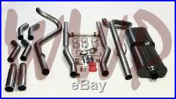 Dual 2.50 Header Back Exhaust System /w Mufflers 55-57 Chevrolet Cars V8 Engine