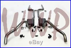 Dual 2.50 Header Back Exhaust System /w Mufflers 68-74 Chevrolet/Chevy Nova V8