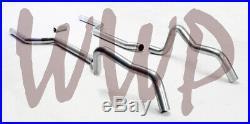 Dual 3 Header Back Exhaust Pipe Kit No Muffler 67-69 GM F-Body Camaro/Firebird