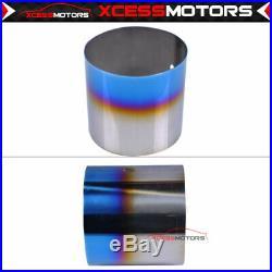Fits 00-05 Eclipse RS GS 4CYL Catback Exhaust 4 N1 Titanium Burnt Tip