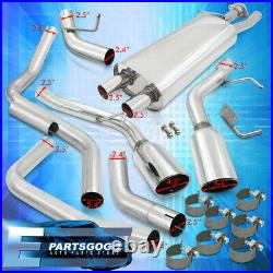 For 02-06 Cadillac Escalade Catback Exhaust 4.25 Dual Muffler Tip 65mm Piping