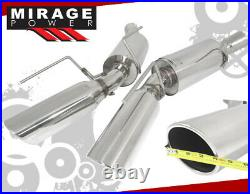 For 05-09 Ford Mustang 4.6L Sohc Gt V8 Axle Back Exhaust System Stainless Steel