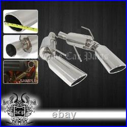 For 05-09 Mustang 4.6L Stainless Steel 4 Muffler Tip Axle Back Exhaust System