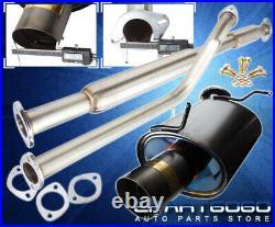 For 06-08 Mitsubishi Eclipse V6 4 Muffler Tip Gunmetal Catback Racing Exhaust