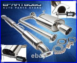 For 06-08 Mitsubishi Eclipse V6 4 Tip Racing Catback Exhaust 2.5 Piping