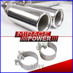 For 06-2009 Volkswagen Gti Mk5 Race Dual Quad Tip Catback Exhaust System 3 Tip