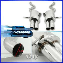 For 07-13 BMW 335i E92 Coupe S/S Dual Quad 3 Tip Performance Axle Back Exhaust