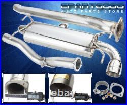 For 08-14 Subaru Impreza Wrx Hatchback S/S 4 Muffler Tip Exhaust Catback System