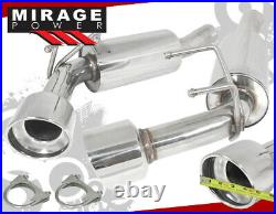 For 10-15 Chevy Camaro Dual 4.5 Tip Performance Exhaust System Stainless Steel