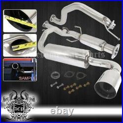For 1988-1991 Honda Crx Catback Exhaust Muffler System Stainless Steel 4.5 Tip