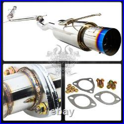For 1994-1997 Accord 2.2 Stainless Catback Exhaust Pipe System Burnt Muffler Tip