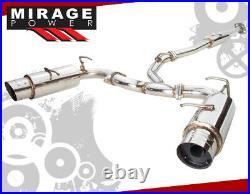 For 2013-2016 FRS BRZ GT86 ZN6 Performance Dual Catback Exhaust 4 Muffler Tip