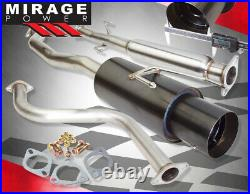 For 90-93 Accord CB 2/4DR 2.35 Catback Exhaust System Kit With 4.5 Gunmetal Tip