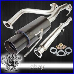 For 90-93 Accord Catback Exhaust System 3 Piping with 4.5 Muffler Tip + Silencer