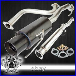For 90-93 Honda Accord l4 2/4DR JDM Catback Exhaust System 60mm Piping 4.5 Tip