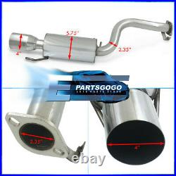 For 90-96 Nissan 300ZX Z32 2+0 NA TT Dual Cat Back Exhaust System 4 Muffler Tip