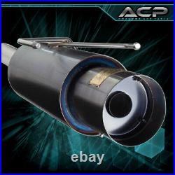 For 94-97 Accord 2/4Dr 4-CYL 4.5 Muffler Tip 76mm Piping Catback Exhaust System