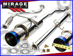 For 94-97 Accord 4CYL High Flow S/S Catback Exhaust System 4.5 Muffler Burn Tip