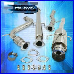 For 94-97 Accord CD CD6 4CYL 2.35 Catback Exhaust System 4.5 Burnt Tip Muffler