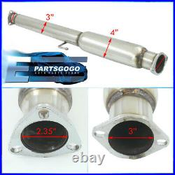 For 94-97 Honda Accord Stainless Catback Exhaust System 3 Pipe 4.5 Muffler Tip