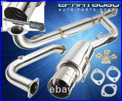 For 95-99 Eclipse Gst Dsm Turbo 4G63T Stainless Catback Exhaust System 75mm Pipe