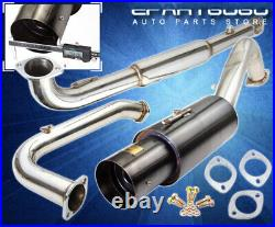 For 95-99 Mitsubishi Eclipse GST Racing Catback Exhaust System 4.5 Muffler Tip