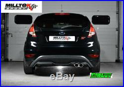 Ford Fiesta MK7 MK7.5 ST Milltek Race Non Res Cat Back Exhaust Cerakote Tips
