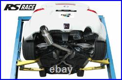 Greddy RS Race 3 Cat-Back Single Exit Exhaust with Y-Pipe for 09-17 370Z Z34