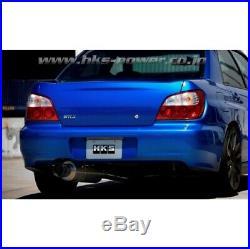 HKS 31701-BF003 3 Titanium Race Cat Back Exhaust For 02-07 Subaru WRX/04-07 STi