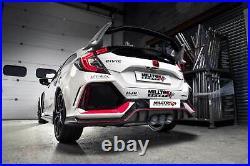 Honda Civic Type R FK8 2.0iVTEC Milltek Sport 3 Non Res Race Cat Back Exhaust