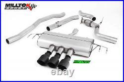 Honda Civic Type R FK8 Milltek Sport 3 Non Res Race Cat Back Exhaust x3 Black