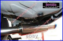 Invidia Racing Single N1 Cat-Back Exhaust withTitanium Tip for 08-14 WRX 4dr Sedan
