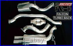 Ks Racing Turbo Back Catback System For Exhaust Falcon Ba Bf Xr6 Turbo 4.0 Sedan
