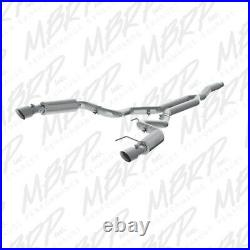 MBRP 3 Cat Back Race Version Exhaust For 2015-2019 Ford Mustang 2.3L EcoBoost